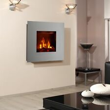 Bergamo Galileo OPTI-MYST Electric Fireplace: Gray Aluminum