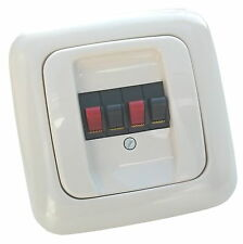 Stereo UP Lautsprecher-Anschlußdose incl. Busch-Jaeger Reflex SI Abd. alpinweiß
