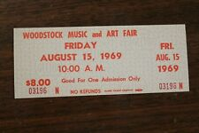 Vintage Original Woodstock 1969 Music & Art Fair Unused Ticket Friday