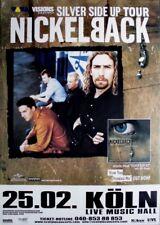 NICKELBACK - 2001 - Konzertplakat - Concert - Silver Side Up - Touposter - Köln