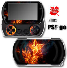Flaming Flower SKIN STICKER VINYL DECAL for SONY PSP Go