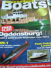 MODEL BOATS JUNE 2013 OGDENSBURG PLAN NR 1 NUCLEAR SUB RFA FORT GEORGE A388