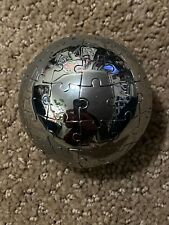 New Listing2.5� Diameter World Globe Steel Metal Pizzle Ball