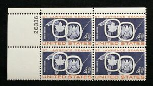 US Plate Blocks Stamps #1131 ~ 1959 ST. LAWRENCE SEAWAY 4c Plate Block MNH