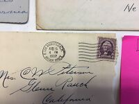 STAMPS 1930 S CANCELLED LOT OF 5 PRE PAID STAMPED ENVELOPES 2 AND 3 CENT ENVELOP