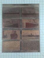 Vintage Copper Print Plate Pacific Coast Steamship Company Ships. B3