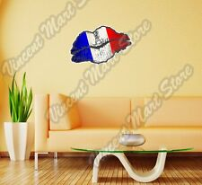 """France Country Lips Kiss Flag Wall Sticker Room Interior Decor 25""""X18"""""""