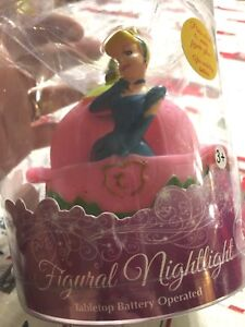 Disney Princess CINDERELLA Pink 3D Figural Nightlight Tabletop Battery Oper. e