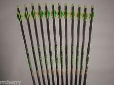 12 Gold Tip XT Hunter 400 Carbon Arrows w/ Bohning Blazer Vanes! WILL CUT!