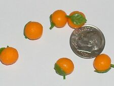 2 Pc.Mix Tiny vintage miniature dollhouse food Oranges candy barbie fruit desert