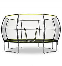 Rebo BASE14 14FT Base Jump Trampoline with Halo ll Enclosure - Black