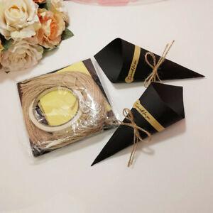 50x Lots Paper Cones Confetti Kraft Wedding DIY Party Decor Rustic Confetti Cone