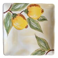 Pier 1 HP Lemon Orchard Square Salad Plate Earthenware Flaw Multiples Available