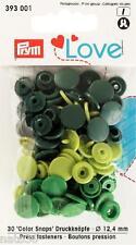 Love Druckknöpfe Color Snaps 393001 grüntöne 12,4 mm Prym nähen stricken Knopf