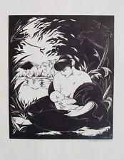 Robert Pajer-Gartegen Wien Akt Erotik Art Deco breastfeading Stillen Mutter Kind