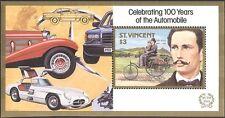 St. Vincent 1987 Classic Cars/Karl Benz/Mercedes/Transport/Motors 1v m/s s3872a
