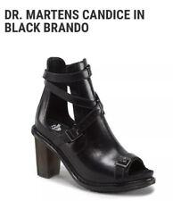 DR MARTENS Candice Bondage Buckle Boot Black Brando Heels Buckles Punk Oi Skin