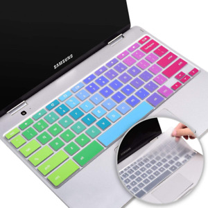 Colorful Silicone Keyboard Cover Skin for Samsung Chromebook 4 XE350XBA 15.6/ XE