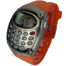 Markenlose Armbanduhren mit Silikon -/Gummi-Armband und gebürstetem Finish