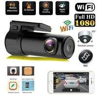 1080P HD WiFi Mini Auto Kamera Dashcam Recorder KFZ DVR Nachtsicht 170° G-Sensor