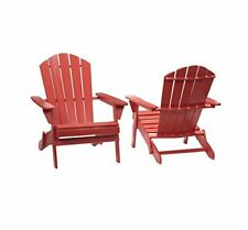 New listing Pt Intertrend Utama 2.1.1088Red Chili Red Folding Outdoor Adirondack Chair