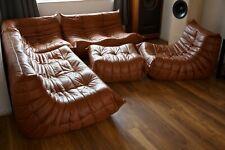 Ligne Roset Togo Sofa - High Grade Pull Up Leather - 3+2+1+Corner Seats + Pouffe