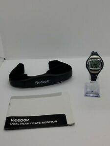 2012 Reebok Fitness RB1173BLTGT Dual Heart Rate Monitor w/Chest Strap Tested