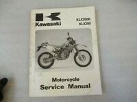 Kawasaki KLX250 Motorcycle Service Manual P/N 99924-1165-03