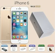 APPLE iPhone 6 16gb GRADO A COME NUOVO + SCATOLA GARANZIA RIGENERATO GOLD ORO