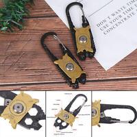 Multi Tool Gadget Portable EDC Portable Outdoor Camping hiking Key Ring ToolsT