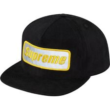 SUPREME Roadside 5-Panel Cap Black box logo camp safari leopard F/W 14