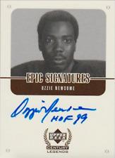 Ozzie Newsome 1999 UD Epic Signatures autograph auto card