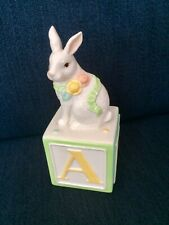 Bunny Baby Collection By Belleek Porcelain Bank New