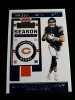 2019 Panini Contenders Mitchell Trubisky #69 CHICAGO BEARS Card