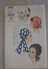 Vintage Womens Sewing Pattern Hat 60's Vogue 6410 Unused