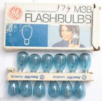(12) GE M3B USA Photoflash Blue Unfired Flash Bulbs - Vintage 'NEW' C346