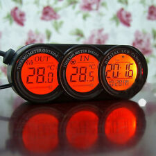 Truck Auto Car Inside & Outside Digital Clock Temperature Thermometer Gauge New