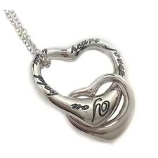 You Hold My Heart Forever Heart Pendant Necklace