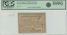 1778 $4 North Carolina Colonial Currency Nc-175 Pcgs Au55 Ppq