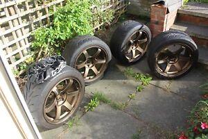 Rays Engineering TE37 Saga 18 x 9.5 ET22 5x114.3 Bronze Alloy Wheels