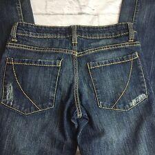 Paper Denim Cloth Jeans 6 Straight Leg Low Rise Distressed