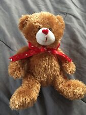 Forever Boyds Bear Brown Bow Heart Nose Brown Red Cute New With Tags Enesco
