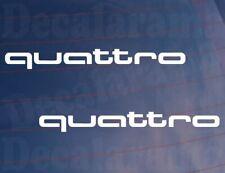 2x Car Stickers Audi QUATTRO Logo 4WD Novelty Window Bumper Door Boot Decals