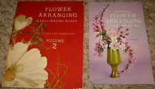 Vintage~Lot Of 2 Flower Arranging Booklets~1941 & 1963~Gd/Vgc~Lot #A