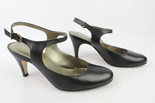 Open Court Shoes high heel sandals SAN MARINA Black Leather T 36