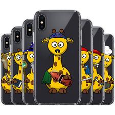 dessana Süße Giraffen TPU Silikon Schutz Hülle Case Handy Tasche Cover für Apple