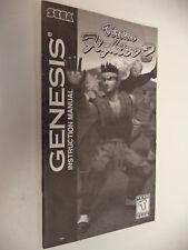 Virtua Fighter 2 Sega Genesis Instruction Manual Booklet