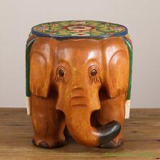 Thailand Hand Carved Wood Stool Chair Zen Seat Zazen Chair Elephant Shapes #2660