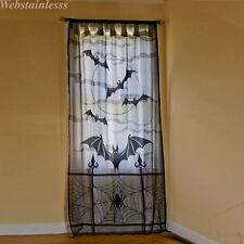 Halloween Vorhänge Fenster Schläger Spinnennetz Schwarz Spitze Party Dekor WEB