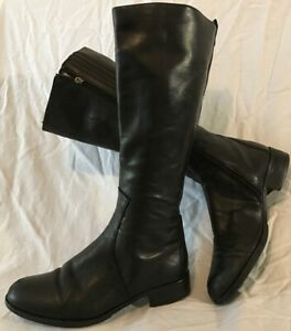 Lasocki Black Knee High Leather Boots Size 38 (885Q)